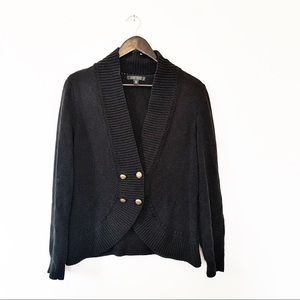 Lauren Ralph Lauren Black Knit Cardigan Sweater